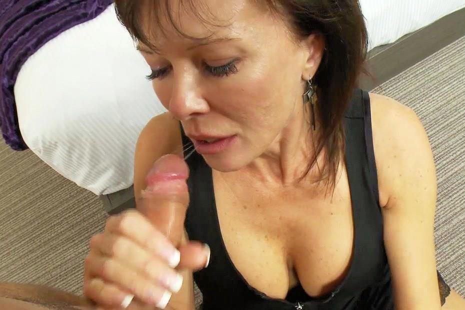 Dressed mature wife threesome